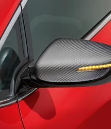MIRROR CAPS CARBON LOOK